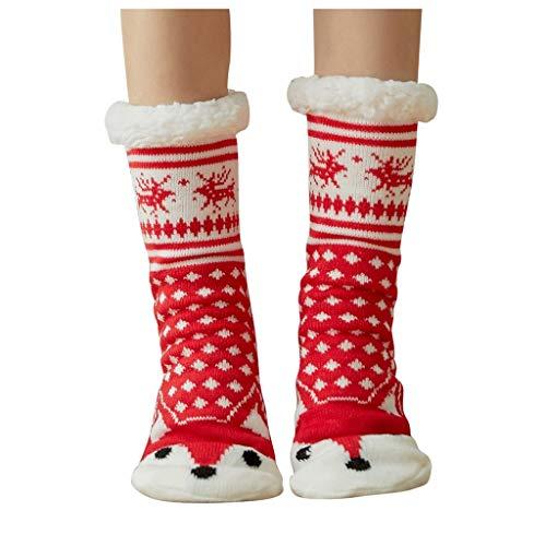 LUCKYCAT navidad calcetines Copo de nieve Impresión 3D calcetines mujer algodon Reno medias sexy mujer lenceria Básico calcetines hombres Verde Invierno calcetines cortos blancos