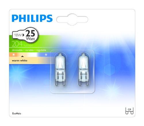 Eco Halogen Brenner 18W G9 CL 2BC/10, 1er Pack (2 Stück)