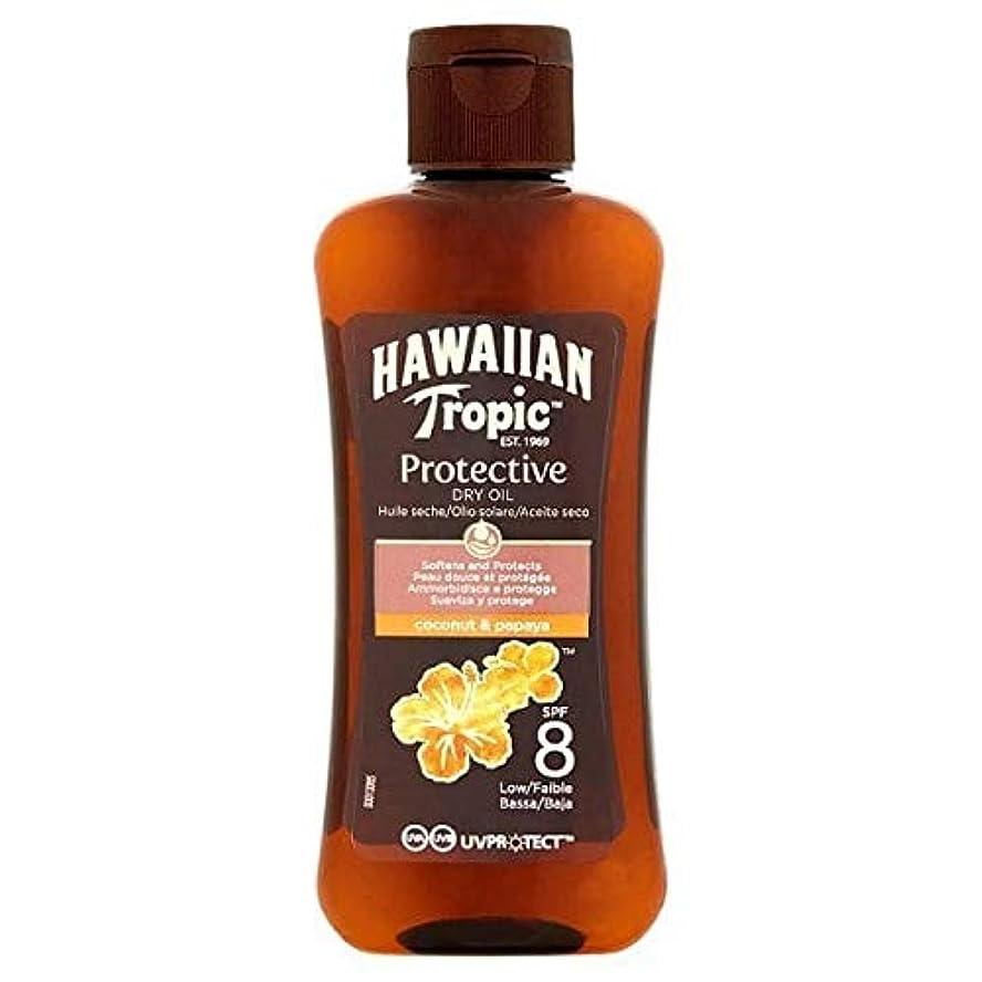 元気ホームパラナ川[Hawaiian Tropic ] 南国ハワイの保護ドライオイルSpf8ミニ100ミリリットル - Hawaiian Tropic Protective Dry Oil SPF8 mini 100ml [並行輸入品]