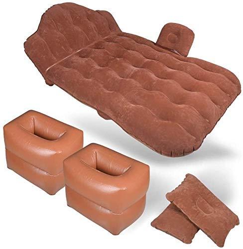 Zjcpow Cama Inflable del colchón de Aire Cama Multifuncional Flocking Viaje Cama Late al Aire Libre Camping Playa Cojín Flotante (Color: Negro) xuwuhz (Color : Brown)