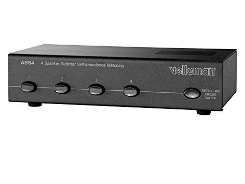 VELLEMAN - ASS4 Schalterprogramm Lautsprecher 4Ports (HP) 140069