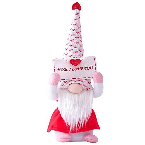 Decoración para el hogar Muñeca de felpa sin rostro, Decoraciones para el día de la madre Dormitorio Sala de estar Decoración de escritorio Poste de pie, Muñeca de moda que se puede poseer, Navidad N