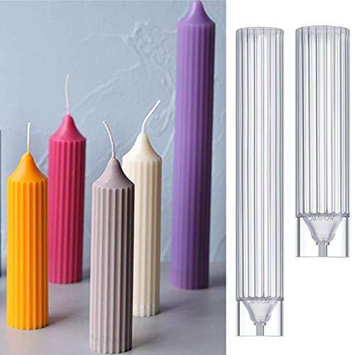 AMITD 2 stuks langpolige plastic kaarsen maken vormen DIY zeep maken ambachten kleigereedschappen Church Party bruiloftsbenodigdheden, S. Small S