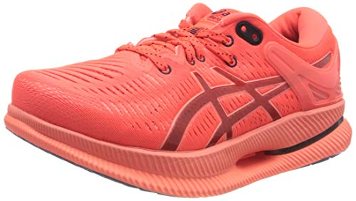 Asics Metaride, Road Running Shoe Hombre, Sunrise Red/Midnight, 45 EU