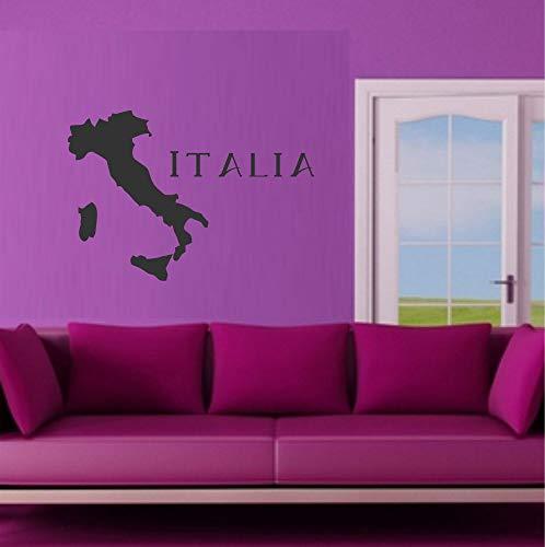 myrockshirt Italien Umriss Silhouette mit Schriftzug Italia 50cm Wandtattoo Aufkleber Autoaufkleber Sticker Decal UV&Waschanlagenfest Profi Qualität