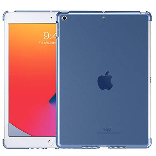 TiMOVO Funda para Nuevo iPad de 8ª Generación 2020, Nuevo iPad 7ª Generación 10.2' 2019, Trasera de Plástico Transparente Durable Cubierta para iPad 10.2-Inch Retina Display Tableta - Azul Marino