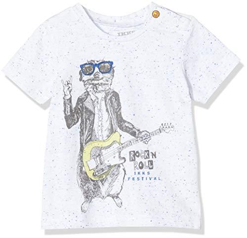 IKKS Baby-Mädchen Tee Loutre Guitare T-Shirt, Weiß (optisches Weiß 01), 6-9 Monate