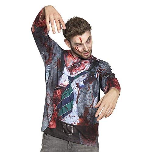 Boland 84330 - Maglietta realistica Zombie, Multicolore, L