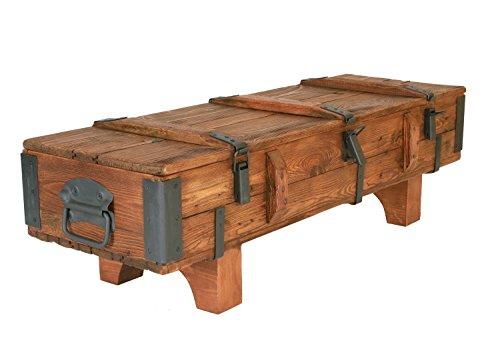 Own Design - Tavolino da salotto in legno vintage, stile vintage, stile retrò, lunghezza 120 cm, larghezza 41 cm, altezza 36 cm