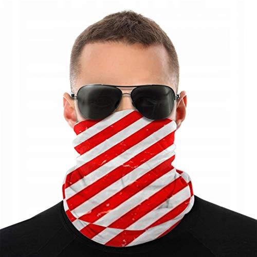 HJHJJ Diademas para hombres Mujeres Polainas para el cuello, Mascarilla, Diadema, Bufanda Sábana arrugada Papel de regalo de Navidad Turbante rojo Bufanda múltiple Impresión de doble cara Tur