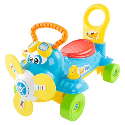 Lil' Rider Ride On Toy Airplane – Electronic Wheeled Scooter and...