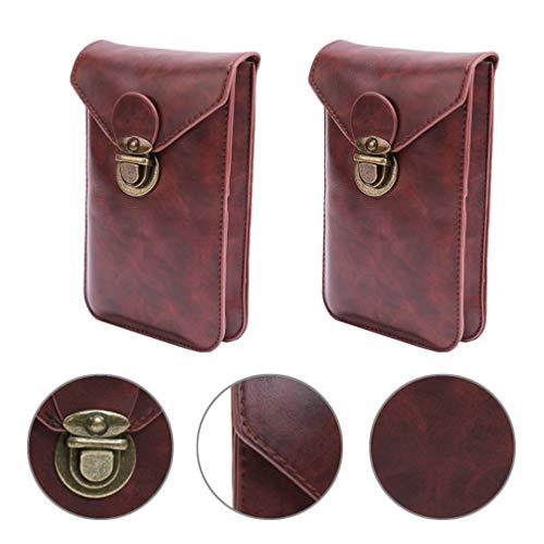 VILLCASE Homens Cinto Bolsa de Couro Bolsa de Cintura Pacote de Esportes Telefone Celular Coldre Carteira Embreagem Mini Messenger Bag para Viagens de Trabalho Ao Ar Livre
