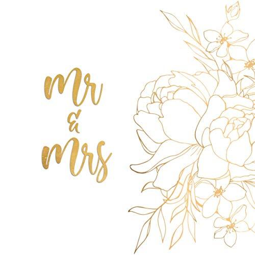 Guest Book Matrimonio MR. & MRS.: Album Fotografico Pagine Bianche 21,5 x 21,5 Cm 110 Pagine - Libro Degli Ospiti, Photo Booth Matrimonio e Album Polaroid