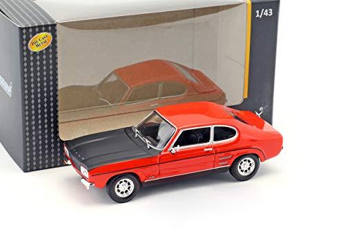 Cararama Ford Capri rot / schwarz 1:43