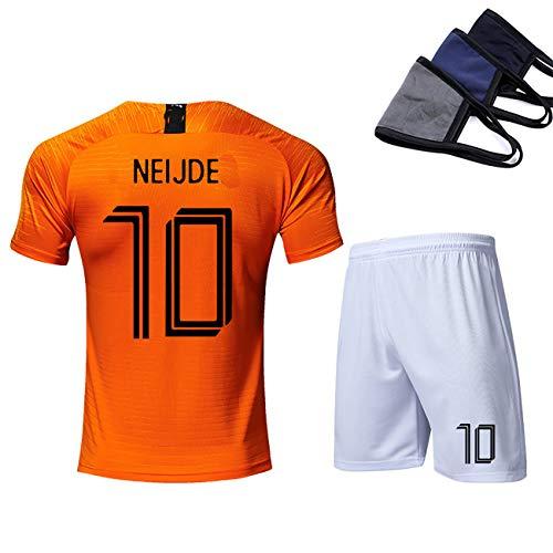 YANDDN 18-19 Niederländische Nationalmannschaft Nr. 11 Robben Trikot Uniformen benutzerdefinierte Fußballuniform Anzüge für Männer und Kinder, Geschenke für Fans-orange10-XXL