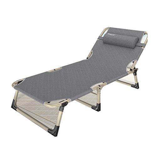Folding chair QFF@ Lit De DéJeuner Simple Inclinable pour La Maison, Fauteuil Inclinable Multifonctionnel Siesta Adulte pour Bureau - Tuyau en Acier - Tissu Composite -178cm * 56cm * 32cm
