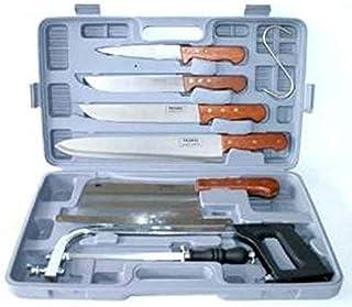 Pradel Excellence K31128 - Maletín de 7 Piezas (4 Cuchillos de Carnicero + 1 afilador + 1 Sierra + 1 Cuchilla Grande)