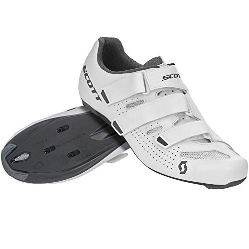 SCOTT 275885, Scarpa Ciclismo Uomo, White/Grey, 45.0