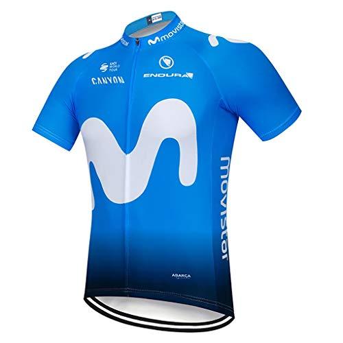 Moxilyn Camisetas de Ciclismo para Hombre, Camiseta Corta, Top de Ciclismo,Jerseys de Ciclismo, Ropa de Ciclismo, Mountain Bike/MTB Shirt, Transpirable y Que Absorbe El Sudor, Secado Rápido