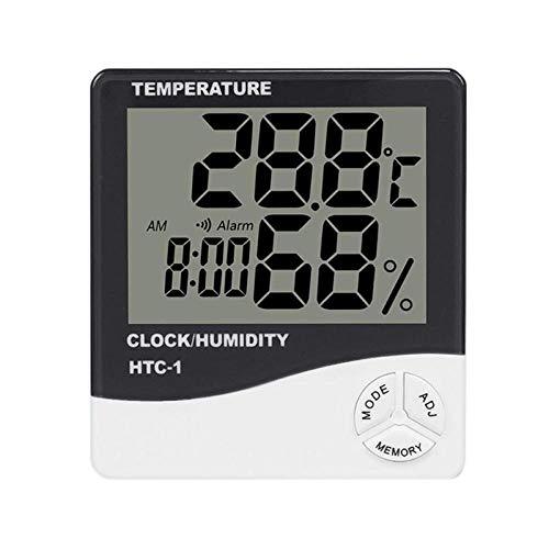 STHfficial Digitale hygrometer, thermometer, elektronische temperatuur, weerstation voor binnen en buiten, alarm klok