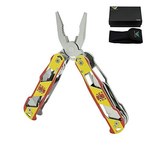 12-in-1 Multi outil Pince Portable Pliable de poche Multi outil avec étui en nylon pour extérieur