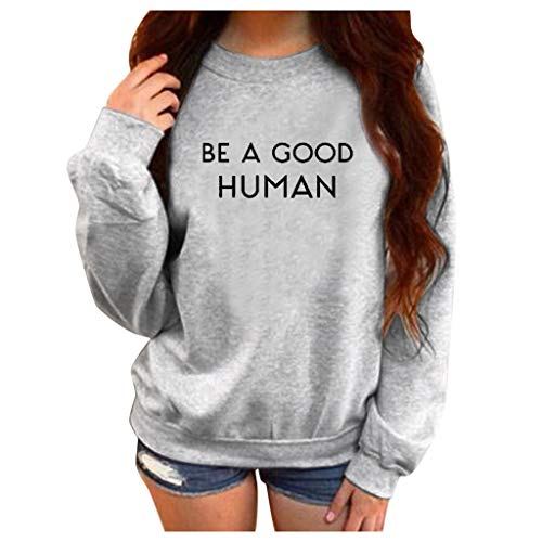 ?FEISI22?Women's Long Sleeve Loose Printed Tops Sweater Pullover Casual Blouse T-Shirt Warm Sweater Crewneck Sweater
