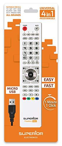 Superior Freedom Micro-USB 4in1 - Telecomando universale programmabile con quattro banchi di memoria