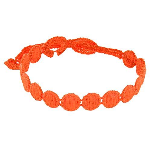 Gioelli Les Poulettes - Cruciani Bracciale Pizzo Confetti Arancione Fluo