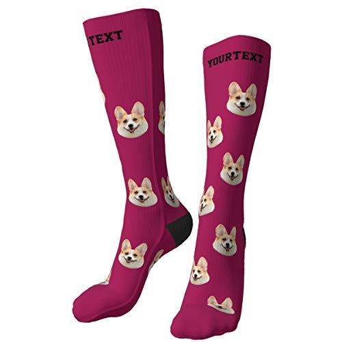 Bofum Calcetines personalizados con foto de cara de mascota, agregue la cara de su mascota, calcetines con foto personalizada, coloque foto de cara de perro, gato y otras mascotas en calcetines