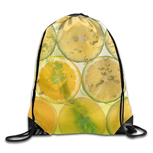 Etryrt Prämie Turnbeutel/Sportbeutel, Cute Fruit Orange Lemon Print Drawstring Backpack Rucksack Shoulder Bags Gym Bag Sport Bag