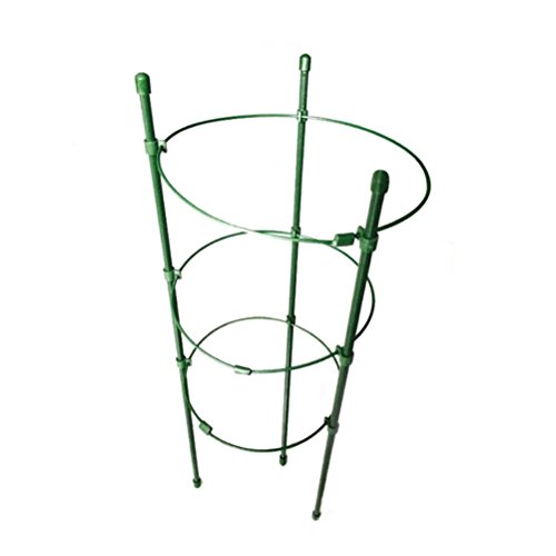 OUNONA Garden Plant Support Ring Garden Trellis Flower Stainless Steel Support Climbing Vegtables Flowers Fruit Grow Cage 45CM
