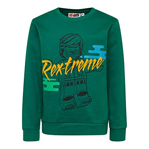 LEGO Jungen CM-50423-SWEATSHIRT Sweatshirt, Grün (Dark Green 875), (Herstellergröße: 116)