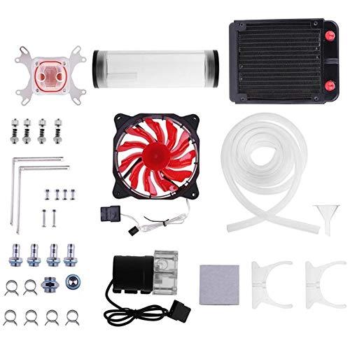 Fauge Sistema De Enfriamiento De Agua De PC G1 / 4 Pulgadas Universal CPU Waterblock 160Mm Bomba De Tanque De Agua 120Mm Radiador 2M Kit De Ventiladores De Enfriamiento De Manguera