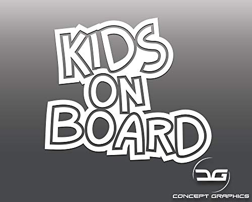 Janeover Kids on Board Funny Novelty Car Vinyl Decal Sticker, Child on Board Car Window Bumper Sticker Easy to Apply and Removable