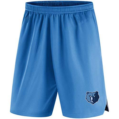 Deportes para Hombre Pantalones Cortos De La NBA Memphis Grizzlies Atletismo Entrenamiento De Punto Pantalón Playa Pantalones Cortos para Verano para Jóvenes con El Bolsillo Blue-S