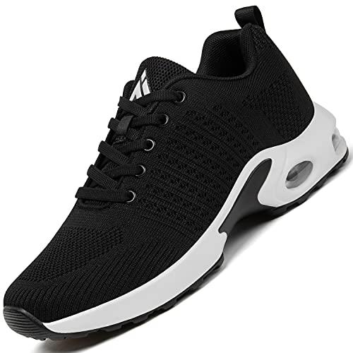 Mishansha Air Zapatos de Correr Mujer Respirable Zapatillas de Running Femenino Antideslizante Calzado Casual Sneakers Caminar Negro N Profundo Gr.39