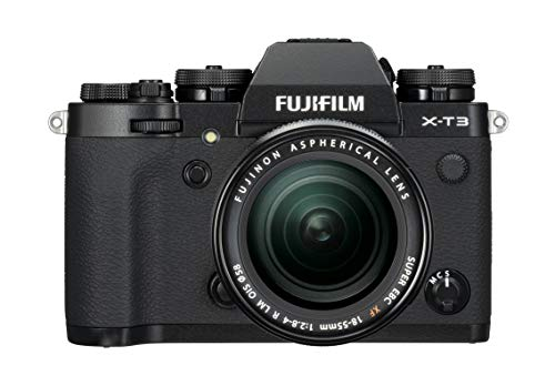 Fujifilm X-T3 Mirrorless Digital Camera, Black with Fujinon XF18-55mm F2.8-4 R LM Optical Image Stabiliser Lens kit