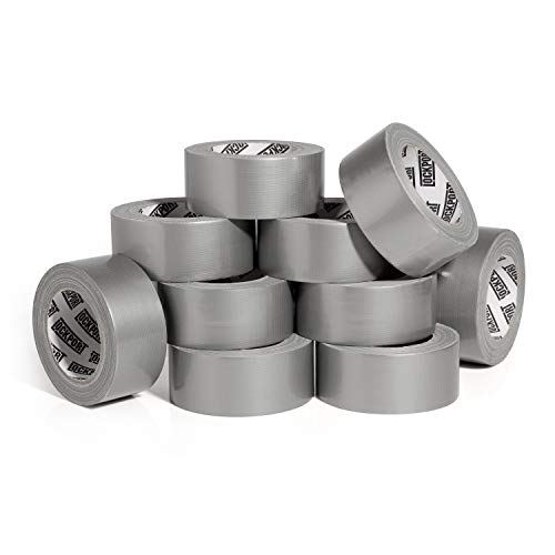 New: Heavy Duty Silver Duct Tape - 10 Roll Multi Pack Industrial Lot � 30 Yards x 2 inch Wide � Large Bulk Value Pack of Grey Original Extra Strength, No Residue, All Weather. Tear by Hand