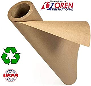 """Recycled Natural Brown Kraft Paper Roll │24"""" x 200' │Made in USA from 100% Recycled Materials │Perfect for Any Use – Wrapping, Shipping, Table Runner, Floor Covering, Banners and Signs (24x200)"""
