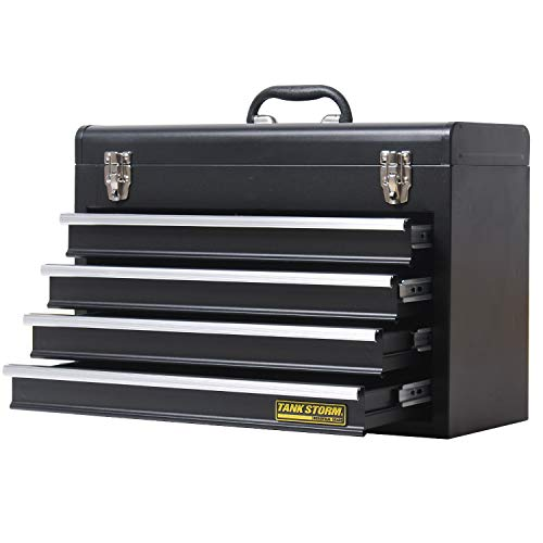 TANKSTORM Portable Steel Tool Chest with Drawers,20.6