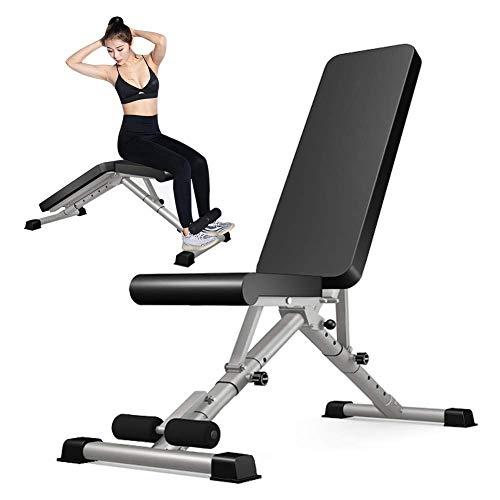 BATOWE Multifunktions-Hantelbank, Faltbare Sit Up Workout Bench, mit Beinstrecker und Beinbeuger Krafttraining Bench, ideal for Anfänger und Profis