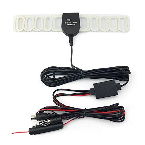 Feeldo de voiture 2 en 1 FM IEC pour châssis TV antenne radio antenne avec amplificateur Booster