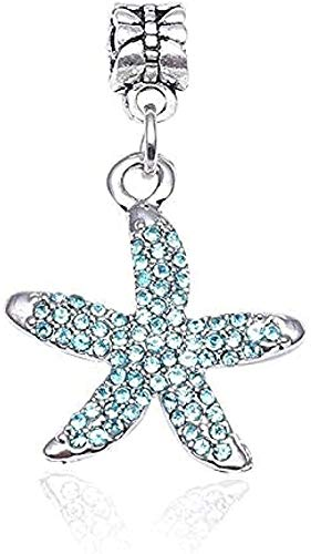 ZPPYMXGZ Co.,ltd Collar de Moda 2 unids/Lote Navy Starfish Series Colgante Charm Beads Fit Pulsera Pulsera Original