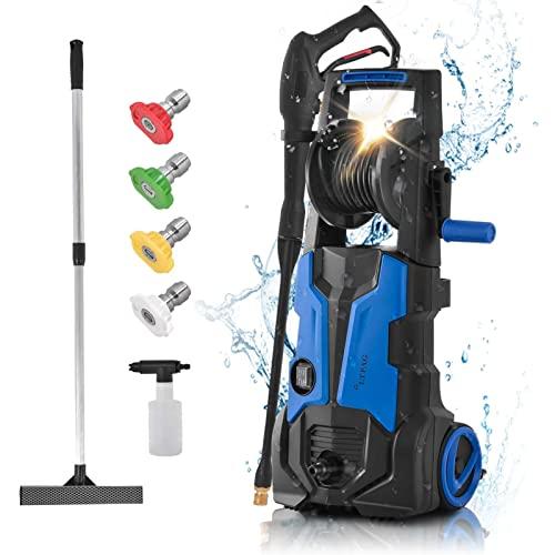 Limpiador de Alta presión (135 Bar, 1800 W, 480 L/h, Manguera de Alta presión de 5 m, Cable de 5 m), Lavado de Coches, Limpieza de Suelo, Limpieza de casa, multifunción