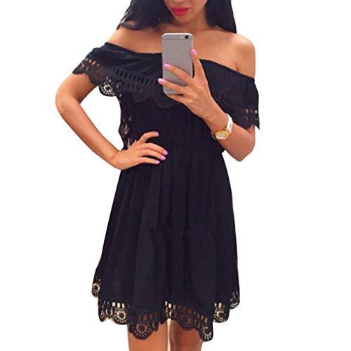 Floridivy Vrouwen Summer Pure Color Dress Meisjes Sling Open rug jurk, pure kleur kleding, dames Back Lace Stitching Deep V Dress