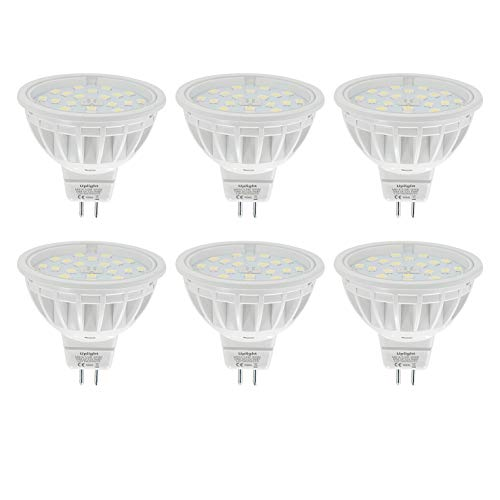 DC12V Dimmbar MR16 LED Lampe Gu5.3 Strahle Ersetzt 60W Warmweiss 3000K 600LM RA85 120°Abstrahlwinkel,6er Pack.