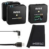 Rode Wireless GO II - Sistema de micrófono inalámbrico de 2 canales + cable SC16 USB-C a USB-C