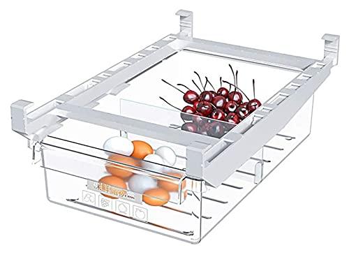 WlP Frigorífico Retractable Refrigerador Refrigerador Organizador Refrigerador Contenedores Caja De Almacenamiento para Almacenar Bebidas Enlatadas Huevos De Queso Huevos Verduras Carne Frutas