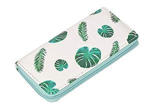 Ecohaso Women Printed Zip Around Long Wallet PU Phone Clutch Travel Card Holder Purse