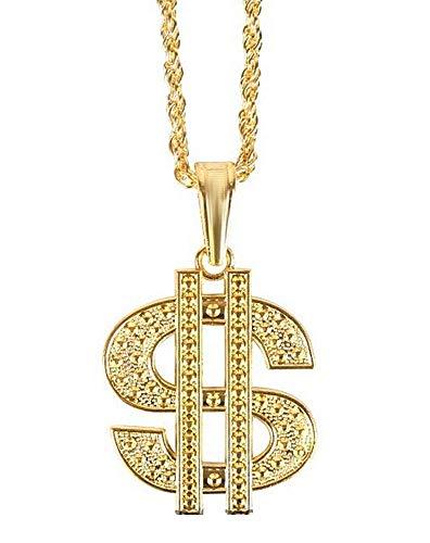 Ketting - symbool - rapper - trapper - dollar - rap - kerst- en verjaardagscadeauidee - man - vrouwen - vermomming - accessoires - gouden kleur trap